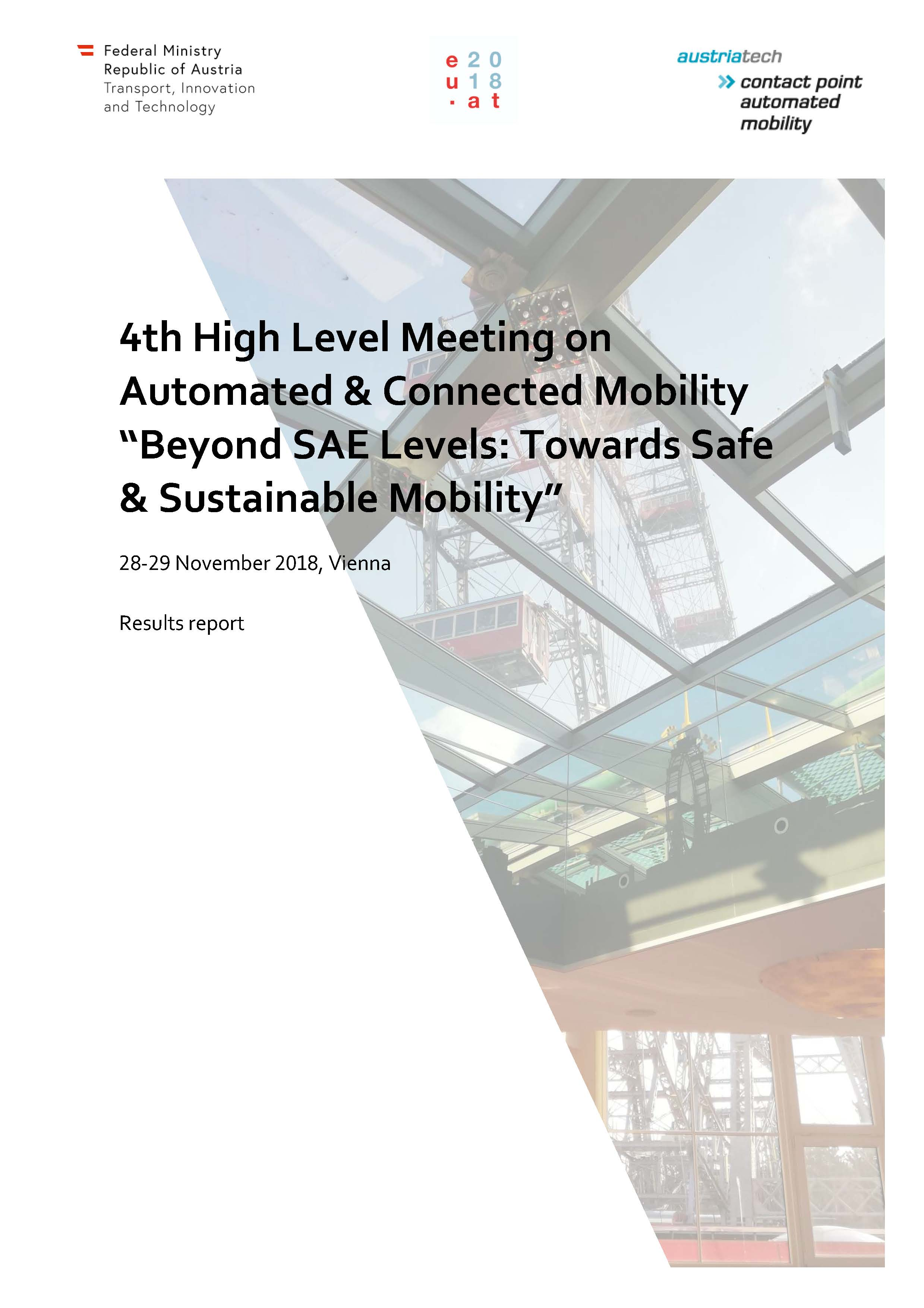 High Level Meeting on Automated and Connected Mobility Report 2019 Seite 01